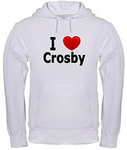 I Love Crosby Hooded Sweatshirt