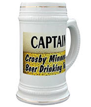Crosby Beer Drinking Team Stein