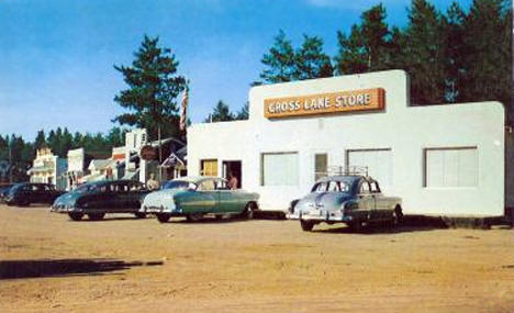 Business District, Crosslake Minnesota, 1950's