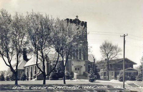 Catholic Church and Parsonage, Currie Minnesota, 1949