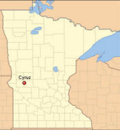 Location of Cyrus Minnesota