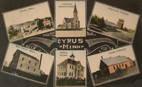 Multiple views of Cyrus Minnesota, 1911
