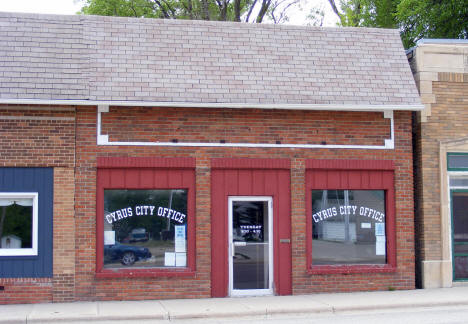 Cyrus City Office, Cyrus Minnesota, 2008