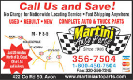 Martini Auto Parts, Avon Minnesota