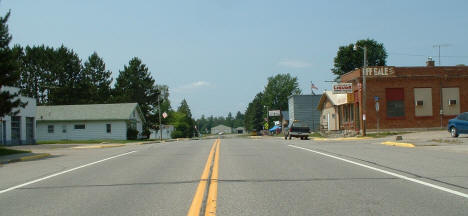View of Downtown Warba on Highway 2, 2006