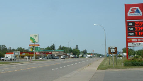 View of Highway 2 in Floodwood Minnesota, 2006