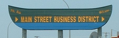 Main Street Business District Sign, Floodwood Minnesota