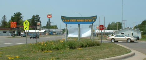 Floodwood Business District Sign, 2006