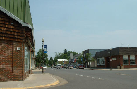 View of Downtown Floodwood Minnesota
