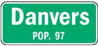 Danvers Minnesota population sign