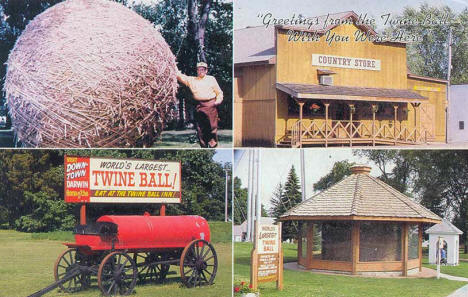 World's Largest Twine Ball, Darwin Minnesota, 1980's