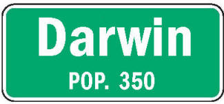 Darwin Minnesota population sign