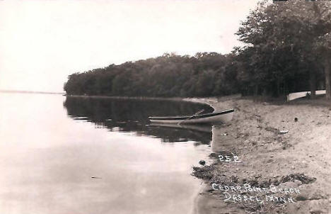 Cedar Point Beach, Dassel Minnesota, 1920's