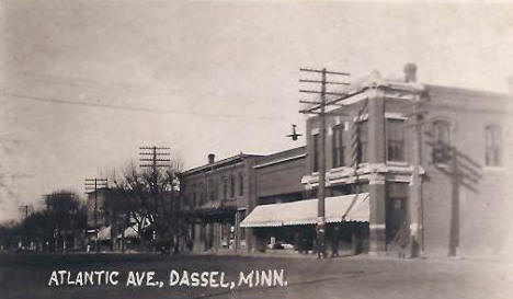 Atlantic Avenue, Dassel Minnesota, 1910's