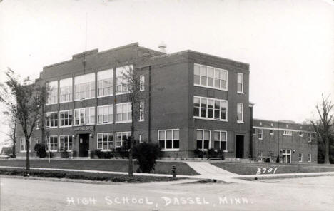 High School, Dassel Minnesota, 1940's?