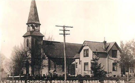 Lutheran Church and Parsonage, Dassel Minnesota, 1920's?