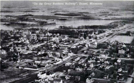 Birds Eye View, Dassel Minnesota, 1920's