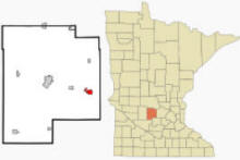 Location of Dassel, Minnesota
