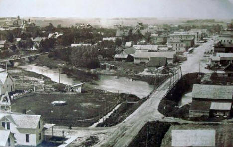 Birds eye view, Dawson Minnesota, 1908