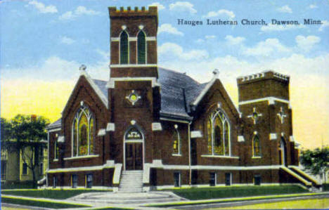 Hauges Lutheran Church, Dawson Minnesota, 1910