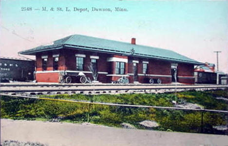 Minneapolis & St. Louis Depot, Dawson Minnesota, 1913