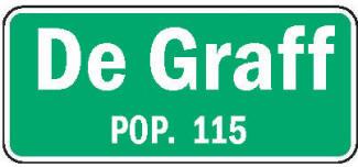 De Graff Minnesota population sign