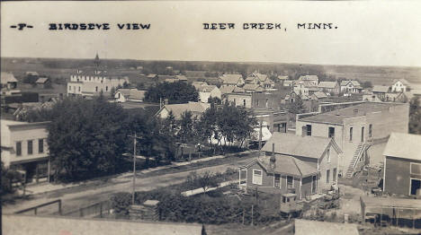 Birds eye view, Deer Creek Minnesota, 1908