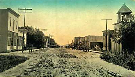 Main Street, Deer Creek Minnesota, 1913