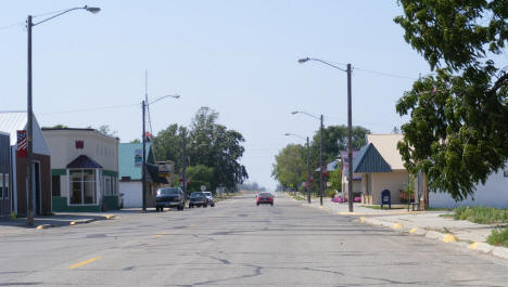 Street scene, Deer Creek Minnesota, 2008