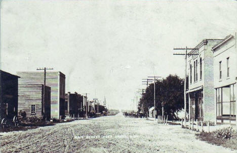 Main Street, Deer Creek Minnesota, 1909