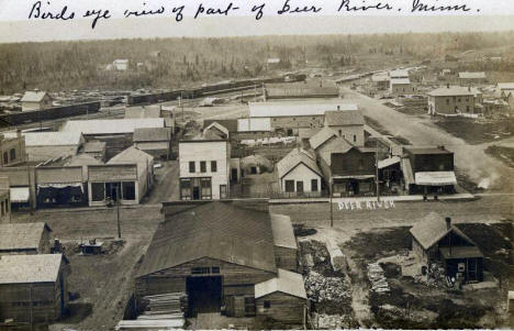 Birds eye view of Deer River Minnesota, 1910's?