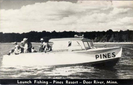 Launch Fishing at the Pines Resort, Deer River Minnesota, 1953