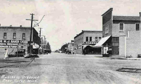 Business District, Deer River Minnesota, 1910's?