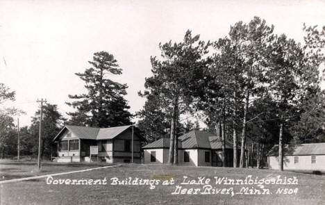 Government Buildings at Lake Winnibigoshish, Deer River Minnesota, 1930's?