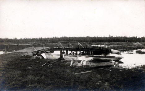 Boat Landing at Deer River Minnesota, 1908