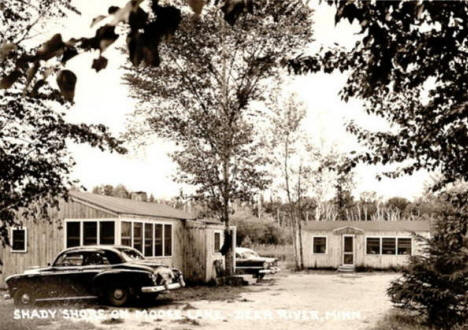 Shady Shore Resort on Moose Lake, Deer River Minnesota, 1950's