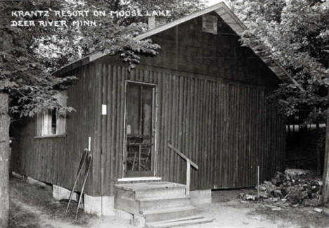 Krantz Resort on Moose Lake, Deer River Minnesota, 1950's