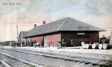 Great Northern Railroad Depot, Deer River Minnesota, 1910