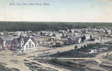 Birds eye view, Deer River Minnesota, 1910