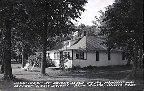 Main Lodge at Bowen's Resort, Deer River Minnesota, 1940's