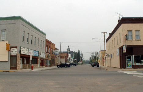 View of Downtown Deer River Minnesota, 2003