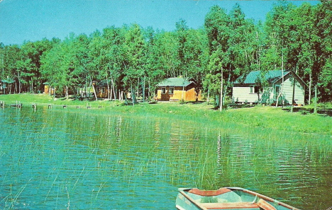 Krantz Resort on Moose Lake, Deer River Minnesota, 1959