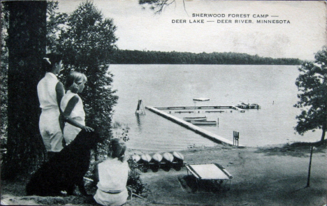 Sherwood Forest Camp on Deer Lake, Deer River Minnesota, 1963