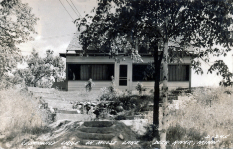 Cedarwild Lodge on Moose Lake, Deer River Minnesota, 1945