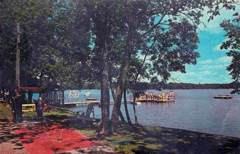 Waterfront at Birkeland's Bay Lake Lodge, Deerwood Minnesota, 1969