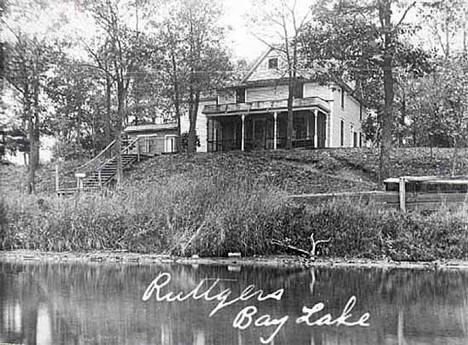 Ruttger's Resort on Bay Lake near Deerwood Minnesota, 1910