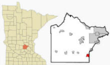 Location of Delano, Minnesota