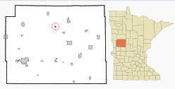 Location of Dent, Minnesota