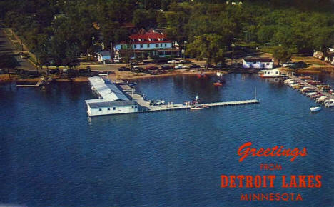 Aerial View of Detroit Lakes, Minnesota, 1962