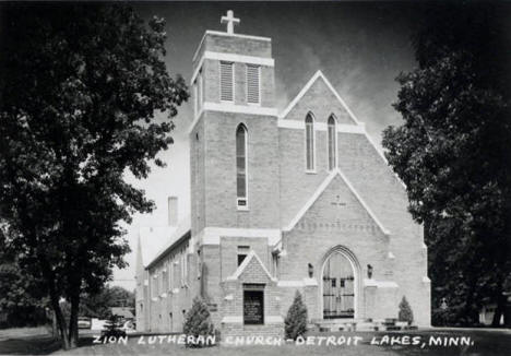Zion Lutheran Church, Detroit Lakes Minnesota, 1940's